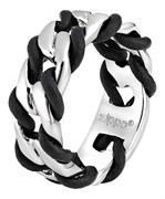 Кольцо Zippo серебристо-чёрное, диаметр 22,3 мм, 2006561