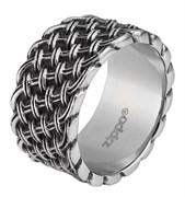 Кольцо Zippo серебристое с плетёным орнаментом, диаметр 20,4 мм, 2006562