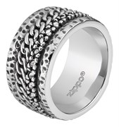 Кольцо Zippo серебристое с цепочным орнаментом, диаметр 20,4 мм, 2006566