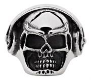 Кольцо Zippo серебристое в форме черепа, диаметр 21 мм, 2006571