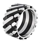 Кольцо Zippo серебристо-чёрное, 1,2x0,25 см, диаметр 20,4 мм, 2006554