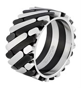 Кольцо Zippo серебристо-чёрное, 1,2x0,25 см, диаметр 21 мм, 2006555
