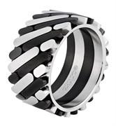 Кольцо Zippo серебристо-чёрное, 1,2x0,25 см, диаметр 21,7 мм, 2006556