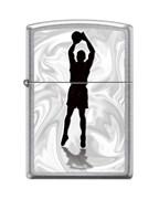 Зажигалка Zippo Баскетболист с покрытием Street Chrome™ 207_basketball