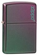 Зажигалка ZIPPO Classic с покрытием Iridescent, латунь/сталь, фиолетовая, матовая, 49146ZL
