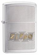 Зажигалка ZIPPO Classic с покрытием Brushed Chrome, латунь/сталь, серебристая, матовая, 49204