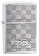 Зажигалка ZIPPO Classic с покрытием Brushed Chrome, латунь/сталь, серебристая, матовая, 49205