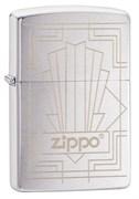 Зажигалка ZIPPO Classic с покрытием Brushed Chrome, латунь/сталь, серебристая, матовая, 49206