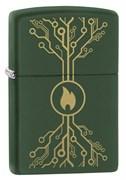 Зажигалка ZIPPO Moss Green Matte 49221