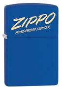 Зажигалка ZIPPO Classic с покрытием Royal Blue Matte, латунь/сталь, синяя, матовая, 49223