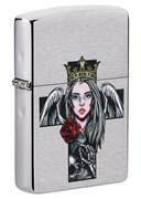 Зажигалка ZIPPO Cross, Queen & Skull 49262
