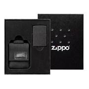 Подарочный набор ZIPPO: зажигалка Black Crackle и чехол 49402