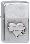 Зажигалка Zippo 200 Heart&Banner Emblem