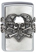 Зажигалка Zippo 200 Skull with Heart Emblem