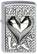 Зажигалка Zippo 207 Love Heart Emblem