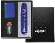 Подарочный набор - зажигалка Zippo + нож Victorinox + кремни