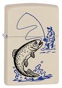 Зажигалка ZIPPO 216 Fishing с покрытием Cream Matte 29227