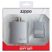 Подарочный набор ZIPPO: фляжка 89 мл и зажигалка 49358