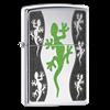 Широкая зажигалка Zippo Green Lizard 21149 - фото 4887