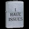Широкая зажигалка Zippo I Have Issues 24346 - фото 4902