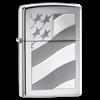 Широкая зажигалка Zippo Old glory 21068 - фото 4930