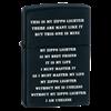 Широкая зажигалка Zippo ZPP CRD black matte 24710 - фото 7179