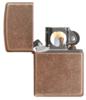 Зажигалка широкая Zippo Classic Antique Copper™ 301FB - фото 7210